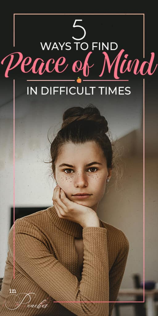 Are you going through a difficult time right now? Feeling stressed out and overwhelmed? Having a bad day? Finding peace in the darkest and most difficult times is possible. Click through to learn the steps I take to help me find peace, positivity, and happiness in difficult and tough moments.