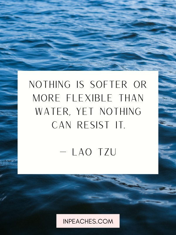 Inspirational water quotes and captions