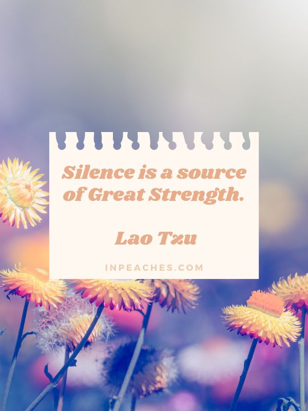 More inspiring silence quotes and sayings 1