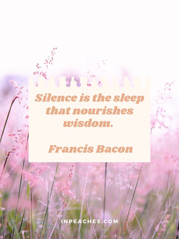 More inspiring silence quotes and sayings