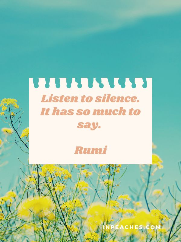 Silence quotes and quotes about being silent